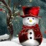 Снеговик в цилиндре