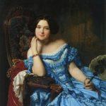 Портрет женщины в голубом платье