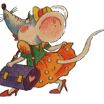 мышка в платье и с сумочкой