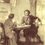 Пушкин с няней