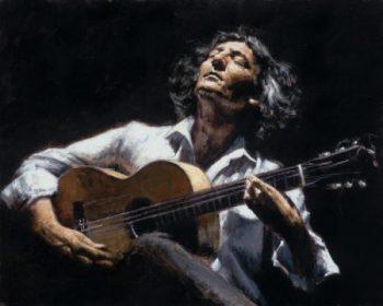 гитарист и гитара