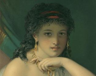 Портрет девушки - художник Pierre Oliver Joseph Coomans
