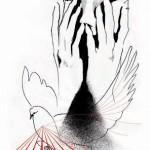лицо руки голубка