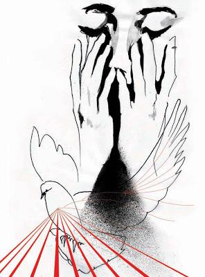 Лицо, руки, голубка