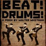 Иллюстрация к стихотворению - марширующие скилеты с барабанами и трубой