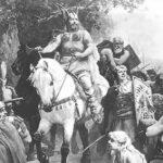 Немецкий рыцарь на коне