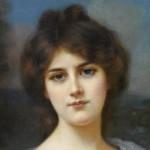 фрагмент женского живописного портрета