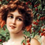 Девушка в вишневом саду