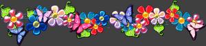 разделитель текста - цветы