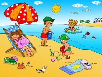 Немецкий язык для детей. Дети у озера