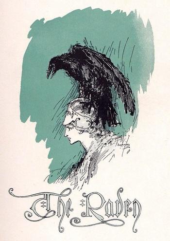 Иллюстрация к стихотворению Ворон