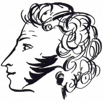 Профиль Пушкина, рисунок