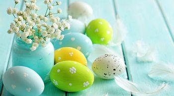 Пасхальные крашенные яйца