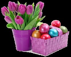 тюльпаны и крашенные яйца
