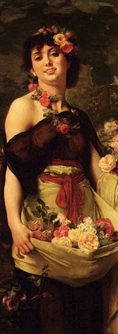 The Flower Girl by Gustave Boulanger