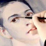 женский акварельный портрет