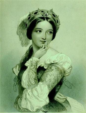 Красивая девушка времен Шекспира