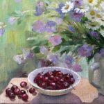 вишни и цветы