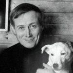 Е.Евтушенко с собакой