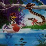 Селезень и змея