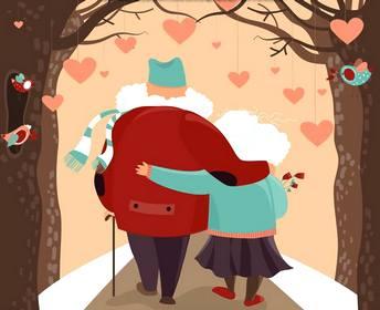 влюбленные старички - рисунок