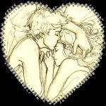 спящие влюбленные рисунок