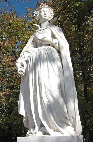 Статуя Марии Стюарт в Люксембургском саду в Париже