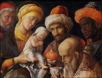 Фрагмент картины Поклонение волхвов
