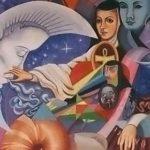 коллаж Sor Juana Inés de la Cruz