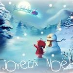 Французская открытка с Рождеством