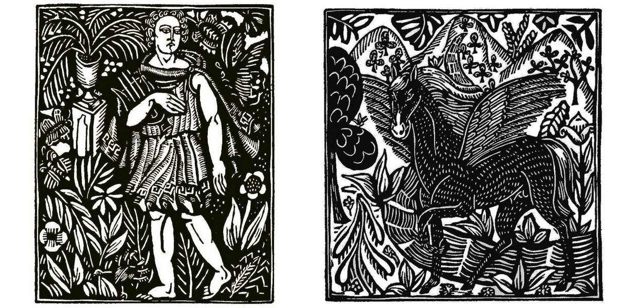 Иллюстрации к Бестиарию Аполлинера