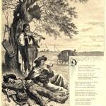иллюстрация к стихотворению Ленау - Три цыгана