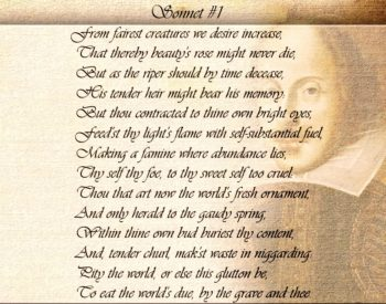 Текс сонета 1 Шекспира