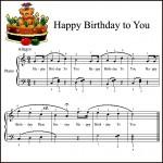 Ноты песенки Happy Birthday to You