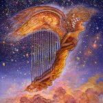 золотая арфа-ангел