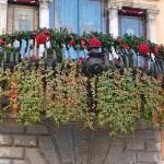 Балкон в дни Рождественских праздников в Италии