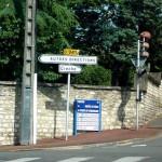 Дорожный указатель во Франции