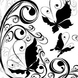 завитушки и бабочки