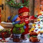 Дети у новогодней елки