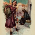 Девушка с охапкой трав