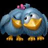 Две влюбленные вороны