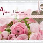 Немецкая открытка с днём рождения