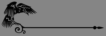 Разделитель текста - ворон