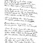 """Автограф стихотворения """"Сидящее"""" А. Рембо"""