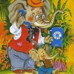 Слон звонит по телефону