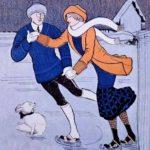 Мужчина и женщина на катке