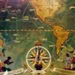 карта мира и роза ветров