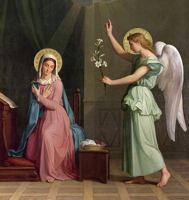 Гавриил и Дева Мария
