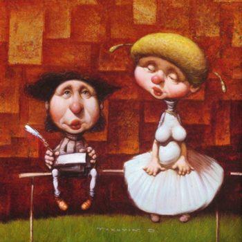 Рисунок Поэт и Муза
