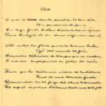 Рукопись стихотворения
